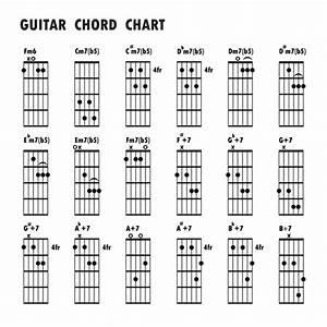 Guitar Chords Chart Design Vector 02 Free Download
