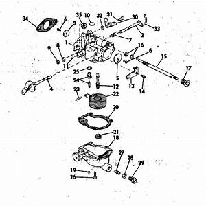 Johnson Carburetor Parts For 1973 6hp 6r73s Outboard Motor