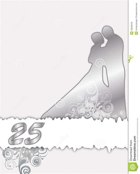 silberhochzeit vektor abbildung illustration von silber