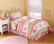 Pink Bedroom Set by Lady Bug Pink Bedding Quilt Set In Full And Twin With Shams
