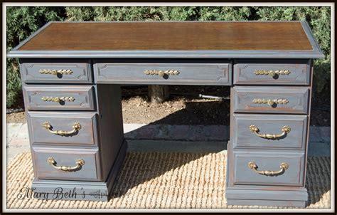 mary beths place restoring  vintage leather desk
