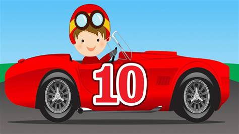 Kinds Of Race Cars by Number Counting Race Cars Learn To Count 1 To 10 For