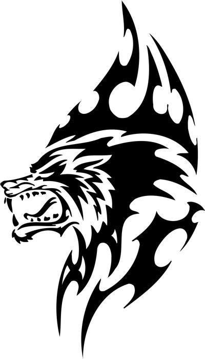 Tribal werewolf | Wolf tattoos, Tattoo designs, Cat stickers