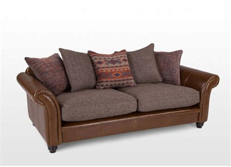 leather and fabric sofa leather fabric combo sofa bernard sofa leather fabric