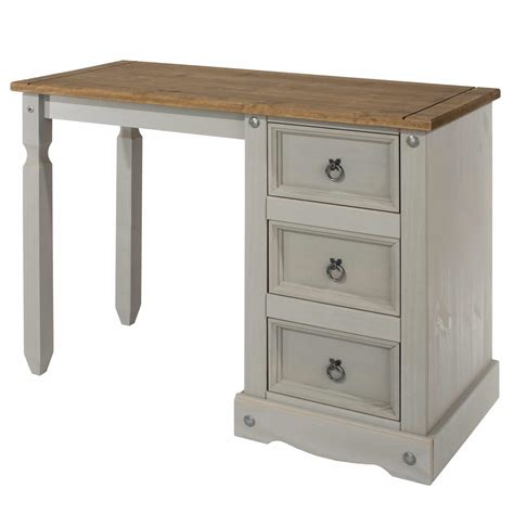 corona grey single pedestal dressing table  price