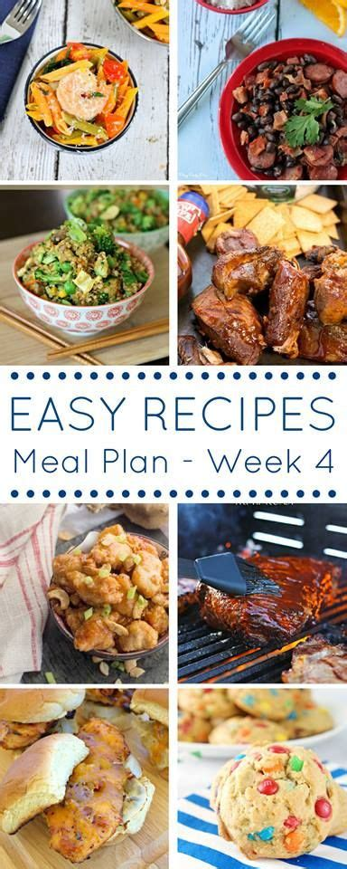 simple tasty dinner recipes easy recipes meal plan a full week of delicious and easy recipes meat and poultry meals