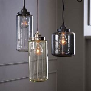 Glass jar pendant lighting