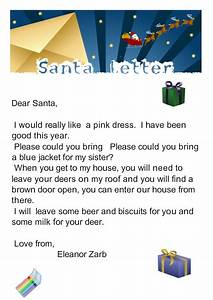 from our classroom santa letter With my letter to santa claus