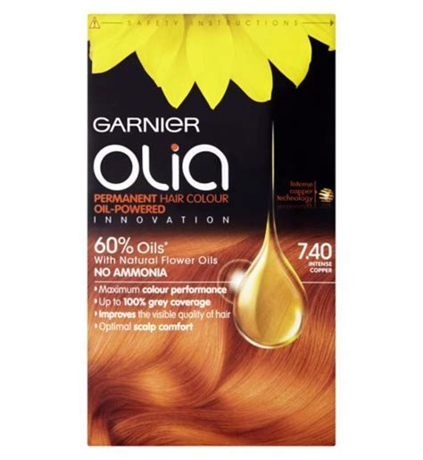 garnier olia permanent hair colour  intense copper