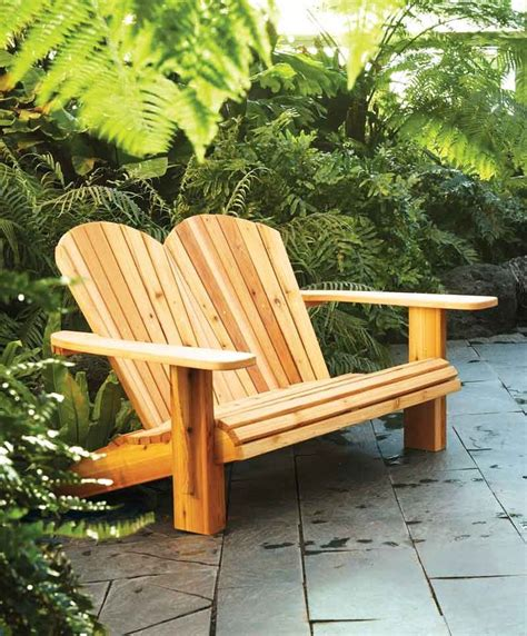 loveseat plans build adirondack loveseat woodworking projects plans