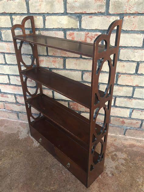vintage wall mounted plate rack display shelf decorative wooden shelf  drawers