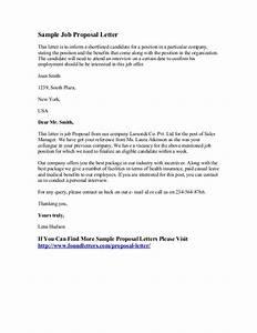 Sample Job Proposal Letter