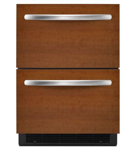 Kitchenaid Undercounter Refrigerator With Maker by Kitchenaid 174 5 1 Cu Ft 24 Drawer Refrigerator