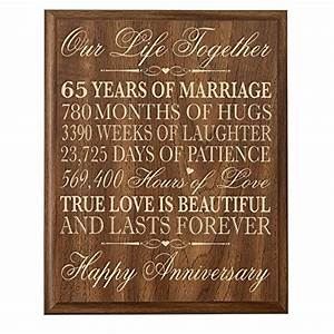 65th wedding anniversary wall plaque gifts for couple With 65th wedding anniversary gifts