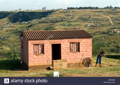Rdp Houses In Fredville Which Is 40 Kilometres From Durban, South Stock Photo