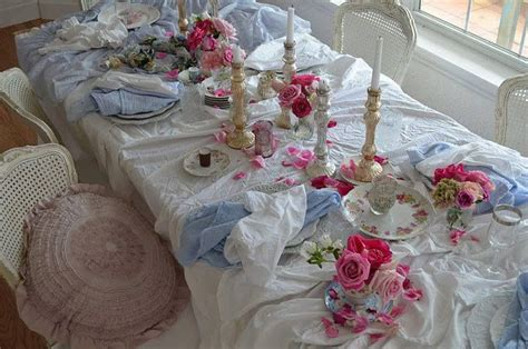 shabby chic table settings table settings romantic shabby chic and vintage pinterest