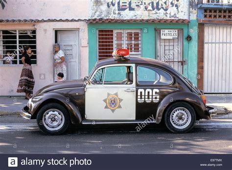 Volkswagen Beetle Police Car On The Street In Veracruz