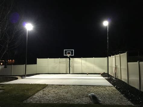 outdoor basketball court lighting 120 best images about backyard basketball court on