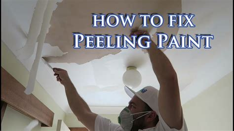 fix flaking paint  plasterboard ceiling youtube