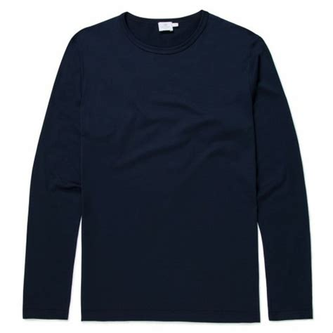 jual kaos tshirt baju lengan panjang biru dongker navy polos di lapak kiyomi twelve