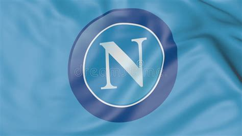 Close-up Of Waving Flag With S.s.c. Napoli Football Club