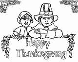 Coloring Pilgrim Thanksgiving Pages Printable Lots Even Fun sketch template