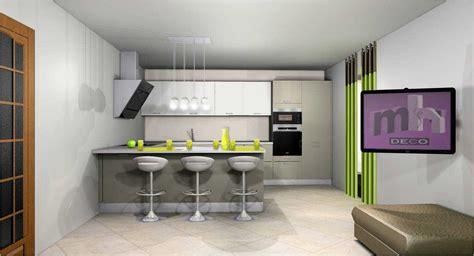 peinture salon cuisine ouverte idee peinture salon cuisine ouverte avec deco sur galerie