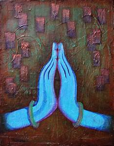 Namaste Hands in Peace Painting - Amy Tanathorn