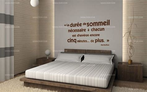 citation pour chambre adulte stickers citation tête de lit