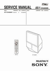 Sony Kp-fw46m91  Kp-fw51m91 Service Manual