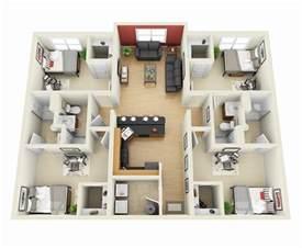 architect floor plans 50 four 4 bedroom apartment house plans architecture