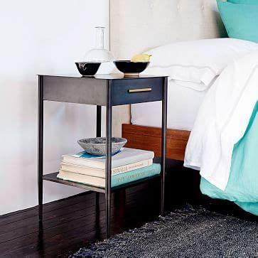 metalwork nightstand  handle hot rolled steel finish
