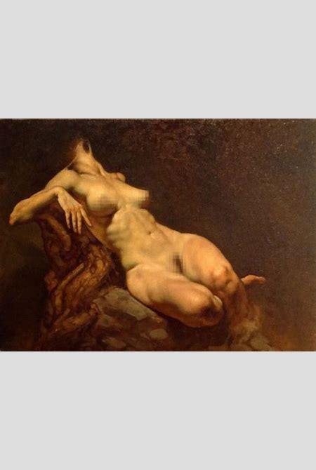 """Persefone"" (Persephone) - Roberto Ferri {contemporary figurative renaissance supine reclining ..."