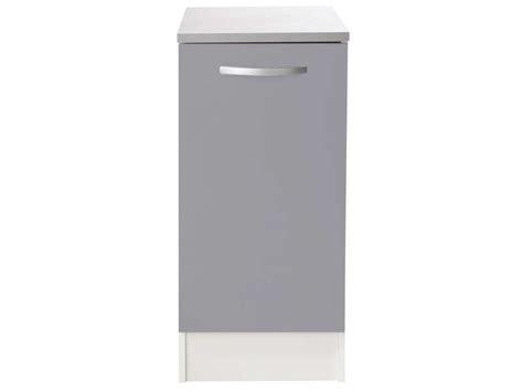 meuble cuisine bas profondeur 40 cm meuble bas 40 cm 1 porte spoon color coloris gris vente