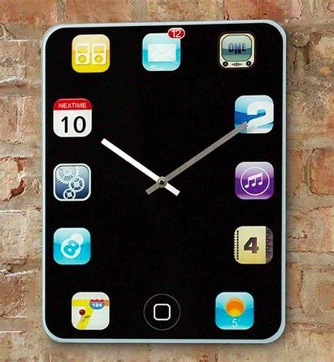 iphone clock smartphone inspired timepieces iphone wall clock