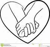 Hands Heart Drawing Making Holding Draw Coloring Getdrawings sketch template
