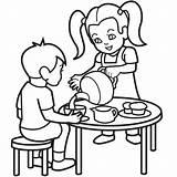 Coloring Tea Party Pages Autism Colouring Retirement Clipart Cartoon Sheet Boston Cliparts Children Clip Fleur Lis Frank Anne Library Child sketch template