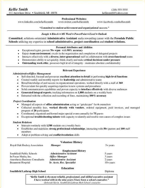 Functional Resume Template For Administrative Assistant by Administrative Functional Resume Business