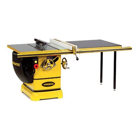 Cabinet Table Saw Used by Powermatic 3 Hp Cabinet Table Saw With 50 Inch Accu Fence