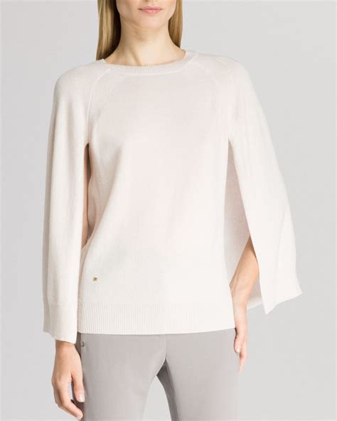 s cape sweater sweater cape sleeve crewneck in white lyst