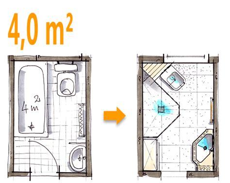 Kleines Bad Mit Dusche 3 Qm by Badplanung Beispiel 4 Qm Spezielle Duschl 246 Sung Im