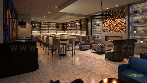 commercial  bar interior rendering design view