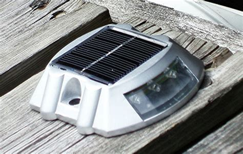 solar power marker led outdoor road driveway pathway dock