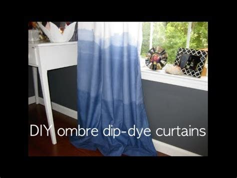 ombre dip dye diy indigo curtains