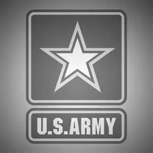 Black and White Army Logo