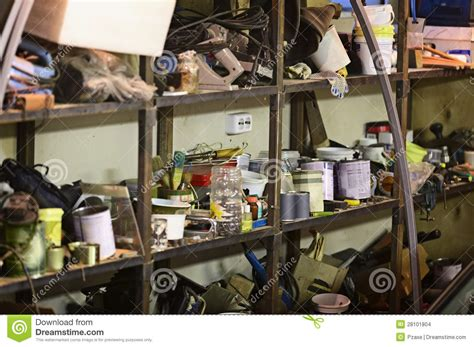 iron shelf bad storage of tools and materials stock images image