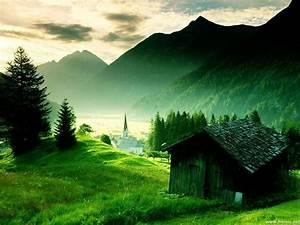 Sfondi Desktop: montagna verde