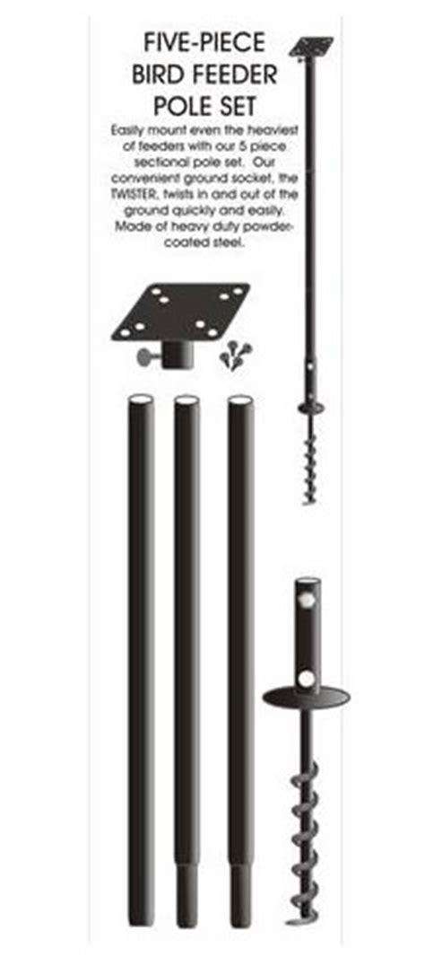 heavy duty bird feeder pole duncraft heavy duty sectional pole