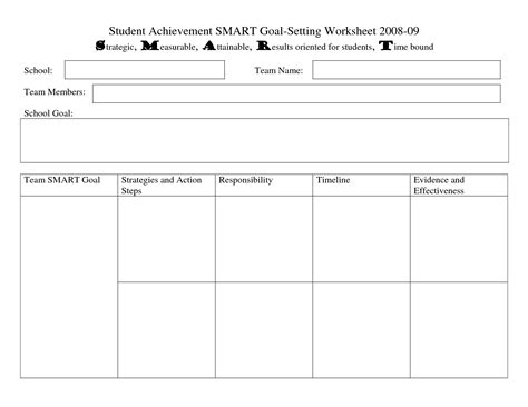 student goal setting template 15 best images of exles smart goal setting worksheet smart goal worksheet template smart