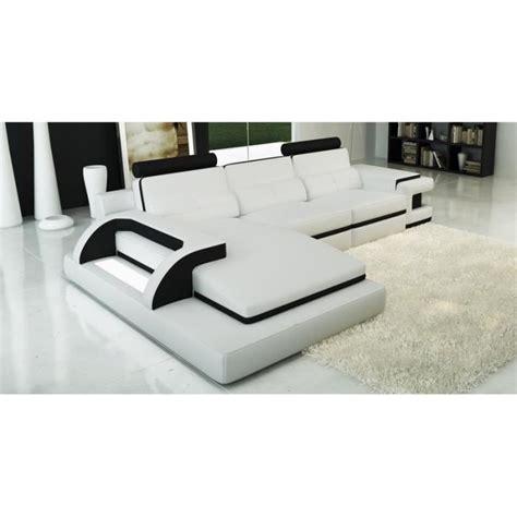 canap design angle canapé d 39 angle cuir blanc et noir design lumi achat